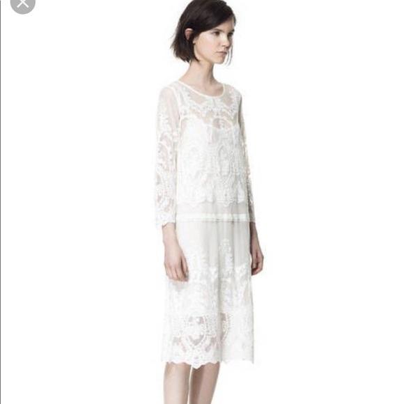 fa9994e7 Zara basic lace dress elegant special occasion L. M_5bedab63e944ba54cbed3076